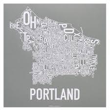 Portland Neighborhood Map by Portland Neighborhoods Map The Hippest Poster Of Portland In The
