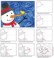 How To Draw A Halloween Picture Step By Step Paint A Snowman Snowman Tutorials And Winter Art
