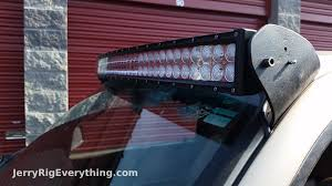 Cheapest Led Light Bars by Making Custom Brackets For A 50 Inch Led Light Bar Truck Mount