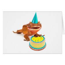 funny lizard birthday cards u0026 invitations zazzle co uk