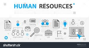 hr strategy template human resources web banner concept outline stock vector 692531350