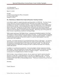 Special Education Resume Sample Cover Letter For Jobs In Higher Education Docoments Ojazlink