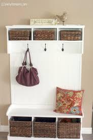 nice entryway bench shelf entryway storage bench with coat rack