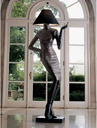 mademoiselle haute couture floor lamp sculpture