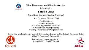 sle resume for part time job in jollibee logo generous resume sle service crew applicant photos resume