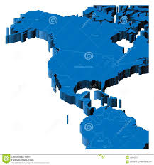United States America Map by 3d Map Of United States And Central America Royalty Free Stock