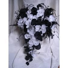 mariage baroque promo bouquet de mariage baroque avec orchidées noires blanches