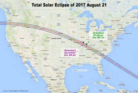 Usa Map With Names Nasa Total Solar Eclipse Of 2017 August 21