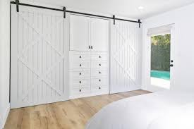 Closet Doors Barn Style The Master Bedroom Incorporates An Ingenious Barn Door Closet