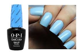 opi gel nail polish led light opi gelcolor alice the i s have it light powder blue uv led gel nail
