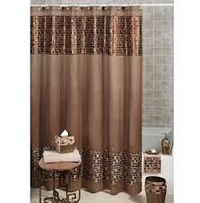 brown paisley shower curtain for bathroom best curtains design 2016