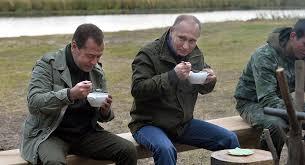 President Weekend Russian President Putin Pm Medvedev Spend Weekend With Fishermen
