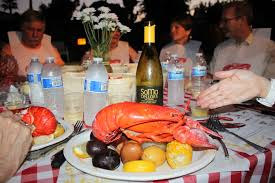 New England Backyards by A Delicious New England Style Backyard Lobster Clambake On A