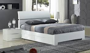 Credit Crunch Carpets Nottingham Widney  Drawer High Gloss - White bedroom furniture nottingham