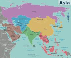 middle east map interactive map of asia region major tourist attractions maps