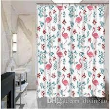 Flamingo Shower Curtains Bathroom Flamingos Shower Curtains 150 180cm Hotel School