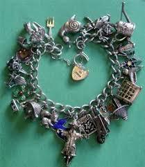 silver jewelry charm bracelet images Vintage antique good luck symbols sterling silver charm jpg