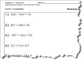 all worksheets factorising algebra worksheets printable