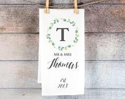 wedding gift towels wedding gift towel etsy