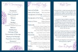 Wedding Program Sample Template Free Tri Fold Program Template