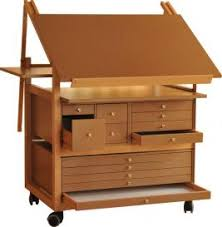 bureau dessinateur chevalet de peinture bois et table a dessin meuble atelier d