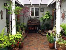 small house in spanish lawn garden decoration idea for spanish garden with clay tiles