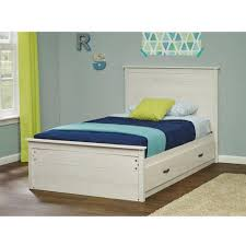 Mainstays Storage Bed With Headboard Mainstays Kyle Twin Mates Bed With Headboard Ivory Coast Walmart Com