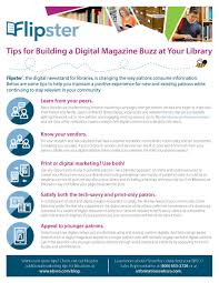 Tip Sheet For Your Creative Ebsco On Create A Flipster Magazine Buzz For Library Card