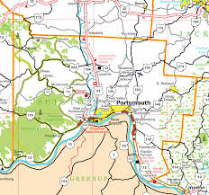 ohio on us map pages county map