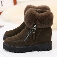 s boots with fur toe side zipper faux fur winter boots novashe com
