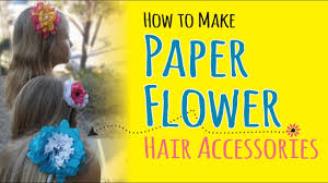 hairstyles with haedband accessories video how to make tissue paper flower headbands diy hair accessories