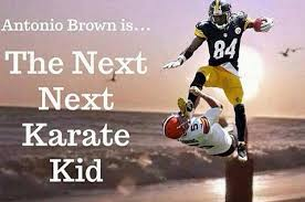 Steelers Meme - the steelers antonio brown karate kicked a punter and the