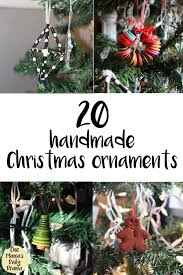 20 handmade ornaments