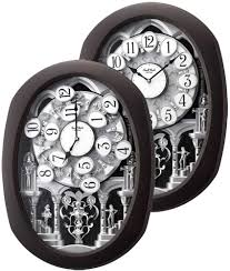 Amazon Mantle Clock Encore Espresso Musical Motion Clock By Rhythm Clocks Home