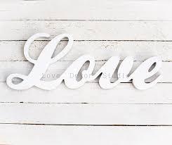 aliexpress com buy love white wedding decor script distressed