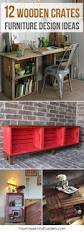 Wooden Crate Bookshelf Diy by 26 Brilliant Diy Wood Crate Projects Repurposing With Function
