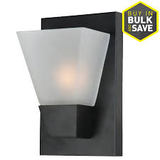 Portfolio Wall Sconce Shop Portfolio 5 52 In W 1 Light Matte Black Pocket Wall Sconce At
