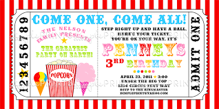 snowcone popcorn and cotton candy ticket invite dimple prints shop