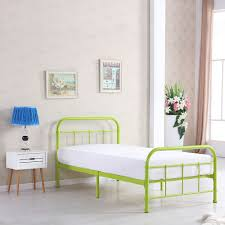 ikayaa high quality metal platform bed frame w wood slats for