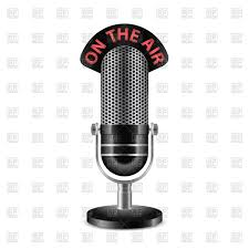 ontheair retro radio microphone with on the air caption vector image