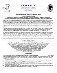 Resume Sample Template by Download Chef Resume Sample Haadyaooverbayresort Com