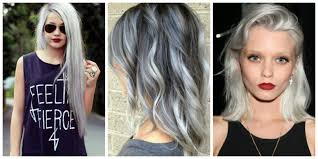 grey hairstyles for younger women gray hairstyles trend 4k wallpapers