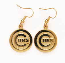 chicago cubs gold logo ear rings eddie u0027s sports treasures
