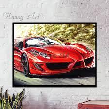 ferrari painting buy 120x240cm home decorative best silk wallpaper hd 3d fantasy