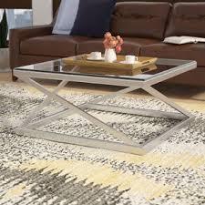 brushed nickel coffee table coffee table brushed nickel wayfair