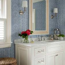 Red White And Blue Bathroom Blue Textured Bathroom Wallpaper Design Ideas