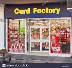 frontage of the card factory a greetings card and gift shop chain