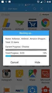 make backup your android apps in es file explorer