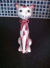ornaments figurines ceramic pottery cat collectables ebay