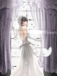 wedding dress anime wallpaper anime hair wedding dress woman